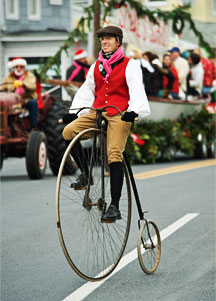 christmas-parade-penny-farthing